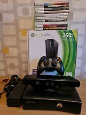 Xbox 360 S 250GB  Slim Console Bundle Controller & Kinect + 10 x Games