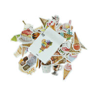 50pcs/box Ice Cream Paper Seal Stickers Scrapbooking DIY Diary Album Labels TK