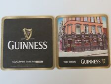 Beer Coaster ~ GUINNESS Brewery Stout ~ LYNCH 57 The SWAN Pub ~ Dublin, IRELAND