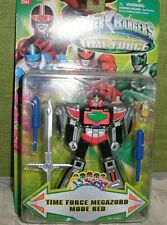 2001 POWER RANGERS TIME FORCE MEGAZORD MODE RED - NEVER REMOVED FROM PACKAGE