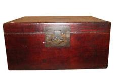 CINA Circa 1940 marrone scuro Cassapanca Box in antico effetto pelle