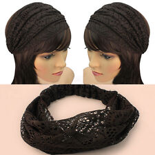 New Fad Lace Wide Headband Headwrap Bandanas Head Wraps Hair Accessory Gift Eo