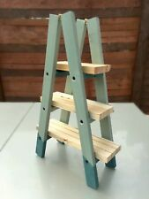 Small Raw Vintage Wooden Ladder Shelf for home or Shop Display Book or Plants