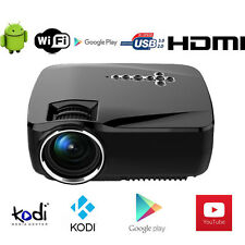Wireless 1080P Full HD 4500 Lumens Home Cinema Android HDMI USB LED Projector