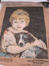 MISS BOWLES and her dog Joshua Reynolds ANCHOR Old Masters Portraits Tapestry