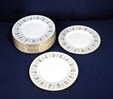"Minton Fine Bone China ALPINE SPRING 12 Salad Plates 8"""