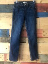 Madewell Slim Straight Jeans in William Wash Taller 26 High Rise