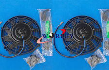 2 sets Universal 7 inch 12V volt Electric Cooling Fan Thermo Fan + Mounting kit