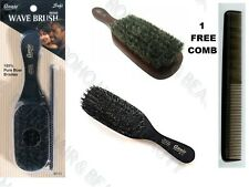 "ANNIE 100% PURE BOAR BRISTLE HAIR BRUSH 8 1/2"" SOFT WAVE BRUSH 2119  FREE COMB"