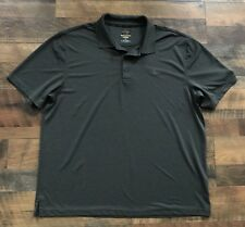 Greg Norman For Tasso Elba Men's XL Polo Golf Shirt Play Dry Gray Short Sleeve