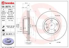 Bremsscheibe (2 Stück) COATED DISC LINE - Brembo 09.B570.11