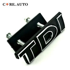 VW TDI Emblem Car Auto Front Grill Badge Black Jetta Golf Polo