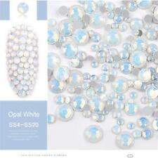 DIY Multi Size Opal Nail Rhinestones Crystal Glass Gems For UV Gel 3D Nail Art