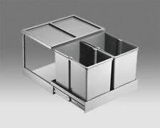 Wesco Automatik Abfallsammler 2x 15l Double Shorty plus Einbau Abfalleimer