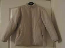 LADIES PADDED COAT IN CREAM SIZE 8 BY ETAM EXCELLENT CONDITION