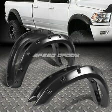 "FOR 09-17 DODGE RAM 1500 3"" TEXTURED BLACK POCKET-RIVETED WHEEL FENDER FLARES"