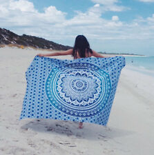 Sexy Women Pareo Dress Sarong Beach Bikini Swimwear Cover Up Scarf Wrap Blue
