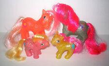 My Little Pony Vintage G1 Adult & Baby Sparkle Pony Lot of 4