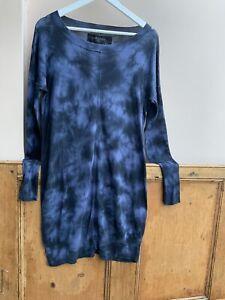 Allsaints Spitalfields Tanzer Blue Dress /Tunic !4uk (more10/12/uk)