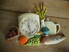 Vintage retro 1970's Kitchen Wall CLOCK Burwood doesn't work salvage - duck
