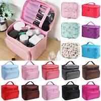 Women's Cosmetic Nail Tech Storage Make up Bag Vanity Case Large Storage Box