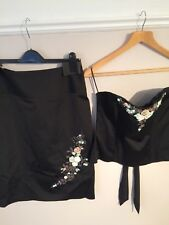 Next Black  Beaded Skirt And Corset Size 14
