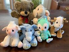 Precious Moments Plush Lot Of 6 Animals! Vintage Tender Tales 1997