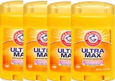 Arm & Hammer Ultra Max POWDER FRESH Solid Deodorant Stick 1.0 oz ea  *LOT of 4*