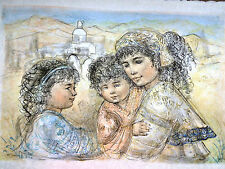Edna Hibel -Zalina with Aries & Ande - Hand Signed & Numbered Limited Edition