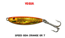 METAL JIG YO-ZURI SPEED GEM  COLORE C 17 ORANGE 7 GRAMMI  SPINNING