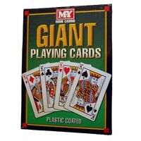 A4 GIANT Jumbo PLAYING CARDS Full Deck 28cm Outdoor Garden Party Game FREE P&P