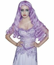 Sexy Smiffy's Gothic Manor Ghost Bride Light Purple Long Wig