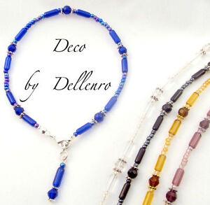 Deko. Handarbeit Glas Ankle Kette Fußkette Knöchel Armband (Farbwahl)