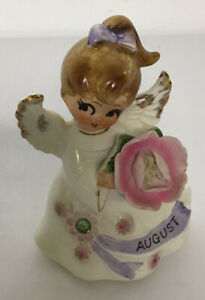 Vintage Lefton August Angel Rhinestone Japan