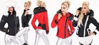 Giubbotto giubbino donna giaccone imbottito eco pelliccia staccabile nuovo