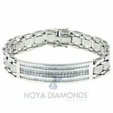 3.71 CARAT F VS2 PRINCESS CUT DIAMOND BRACELET SET IN 18K WHITE GOLD