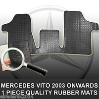 Merc Vito Van Rubber Floor Mat Mats Black Mercedes Vito Mk2 Front 2004 onwards