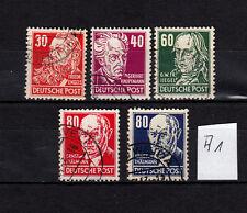 DDR, Köpfe II, 335, 336, 338, 339, 340  sauber gestemelt, siehe Scan (A1)