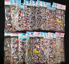 20 Sheets Boys 3D Stickers Assorted Lot