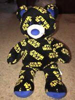 "Build A Bear Star Wars Stuffed Animal Plush Teddy Bear Toy 16"" Black And Yellow"