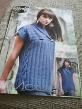 Wendy knitting pattern 5516 shawl collared wrap cardigan. Dk yarn. 32-42inch