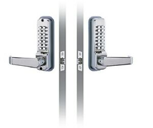 CODELOCKS CL410BB-SS PVD Keyless Mechanical Lockset, Latchbolt Back to Back