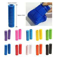 1 Pair Cycling Handlebar Grips Soft Rubber Handlebar End Grips For Bicycle MTB