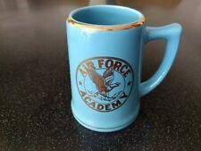 Vintage USAF AIR FORCE ACADEMY BLUE ART DECO SMALL BEER STEIN COFFEE MUG