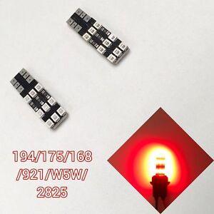 T10 921 168 194 2825 18 12961 Red LED Reverse Backup Light Canbus B1 B