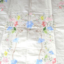 Vintage Cotton Applique Floral Tablecloth 67x102 Oval New