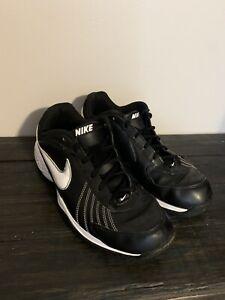 Nike Air Diamond Trainer Baseball Black And White Shoes US Men's Size 11