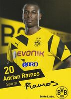 Adrian RAMOS + Borussia Dortmund + Saison 2014/2015 + Original Autogrammkarte