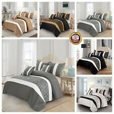 3 PIECE FAUX SILK QUILTED BEDSPREAD SET BED THROW WITH 2 PILLOW SHAMS ALL SIZES