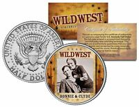 BONNIE & CLYDE * Wild West Series * JFK Kennedy Half Dollar U.S. Coin